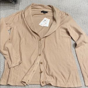 NWT Banana Republic tan cardigan- PS